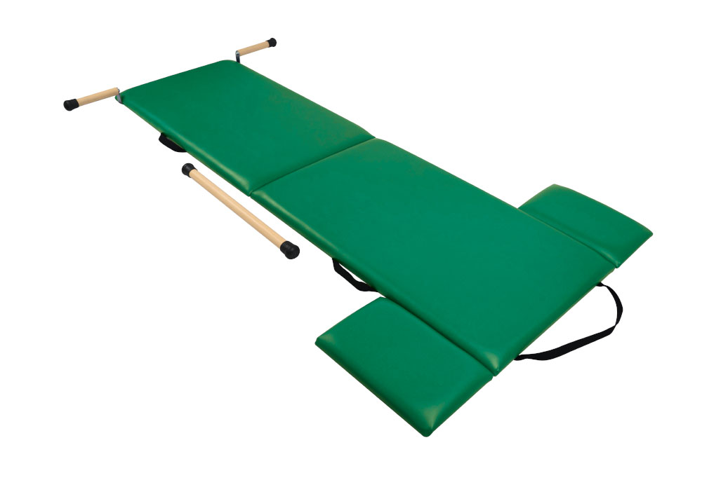 Low Folding Mat con raised handles