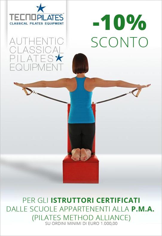 Per gli istruttori certificati dalle scuole appartenenti alla P.M.A. (Pilates Method Alliance) su ordini minimi di euro 1.000,00