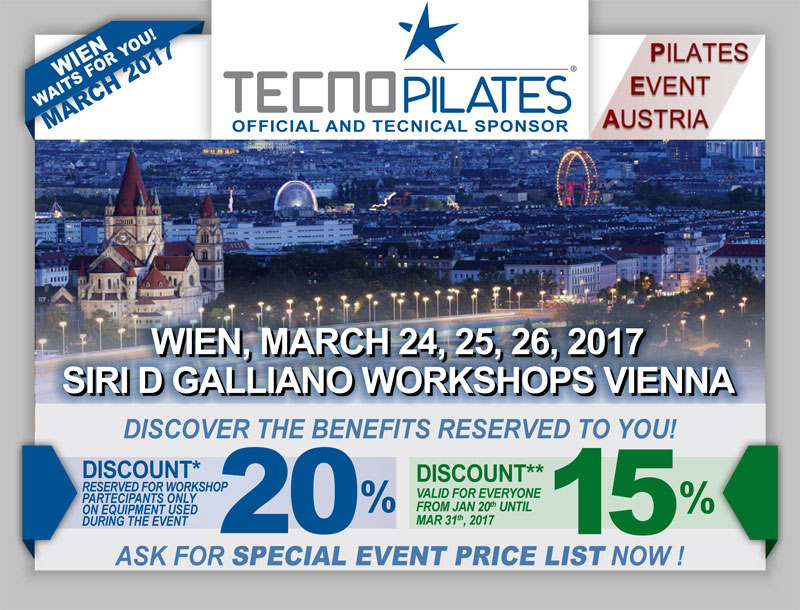 SIRI D GALLIANO WORKSHOPS VIENNA 24, 25, 26 MARZO 2017