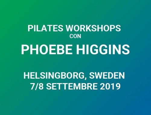 PILATES WORKSHOP CON PHOEBE HIGGINS A HELSINGBORG, SVEZIA – 7/8 SETTEMBRE 2019